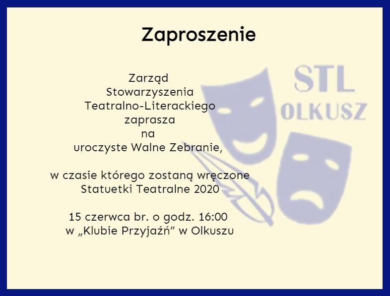 Zaproszenie na Walne Zebranie STL.